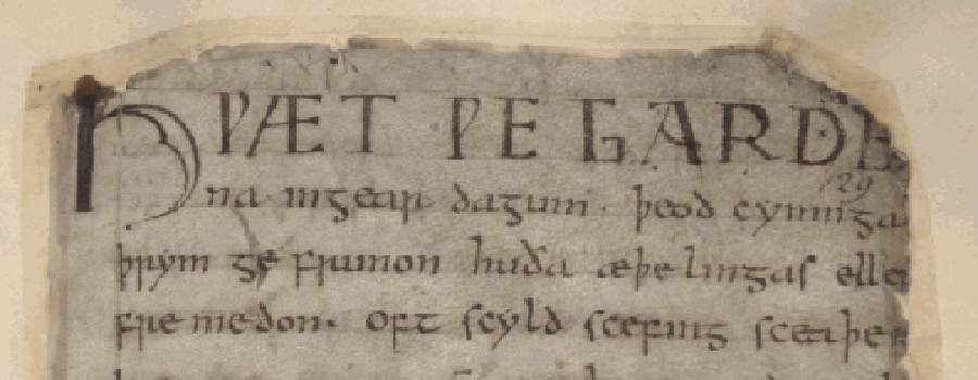 A_portion_of_the_Beowulf_manuscript
